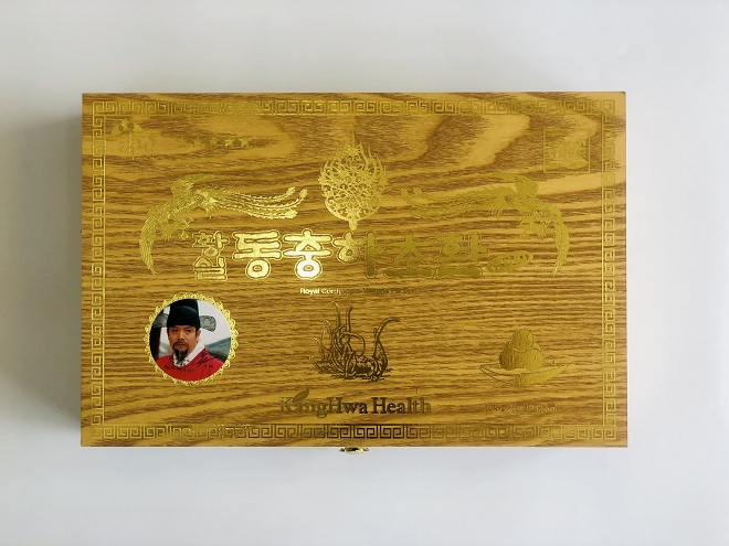 Đông trùng Hạ thảo Kanghwa hộp gỗ vàng 30 viên