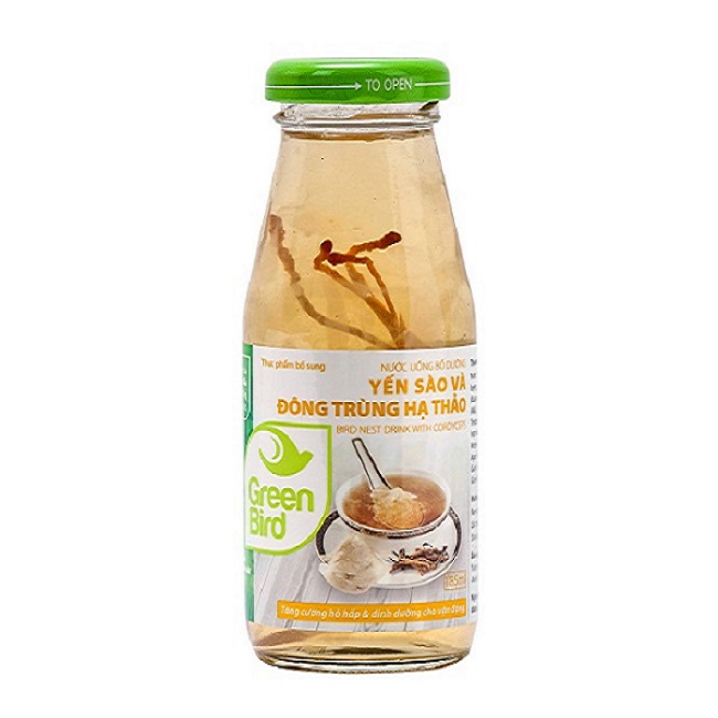Nước Yến Sào và Đông Trùng Hạ Thảo–Xách 6 chai*185ml–NutriNest